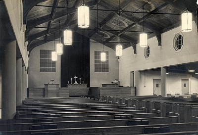 The sanctuary in 1956